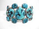 Navajo Old Pawn Vintage Turquoise and Silver Bracelet