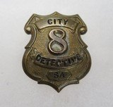 Extremely Rare Pre 1900 S.A.P.D. Detective Badge