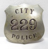 City Police 229 – S.A.P.D. Badge - 1 of 3