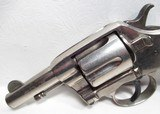 """OUTSTANDING RARE ANTIQUE COLT DOUBLE ACTION REVOLVER from COLLECTING TEXAS – RARE COLT MODEL 1889 NAVY REVOLVER with FACTORY NICKEL 3"""" BARREL - 10 of 21"""