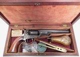 """FINE REVERSED CASED ANTIQUE COLT 1849 POCKET MODEL from COLLECTING TEXAS – HIGH CONDITION 6"""" BARREL 1849 POCKET MODEL IN REVERSED CASE w/ ACCESSORIES"""
