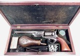 ANTIQUE 1851 SMALL GUARD COLT REVOLVER CASED with ALL ACCESSORIES from COLLECTING TEXAS – VERY HIGH CONDITION 1851 NAVY in ORIGINAL CASE – MADE 1856