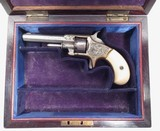 FINE ANTIQUE WHITNEYVILLE ARMORY REVOLVER – FACTORY ENGRAVED with IVORY GRIPS from COLLECTING TEXAS – No.1 SIZE NICKEL PLATED .22 CAL. in PERIOD CASE