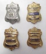 4 Early San Antonio Police Dept. Detective Badges