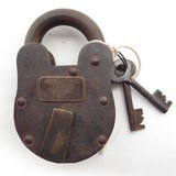 ORIGINAL ANTIQUE WINCHESTER FIREARMS FACTORY LOCK from COLLECTING TEXAS – LOCK #27 with KEYS