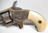 FINE ANTIQUE WHITNEYVILLE ARMORY REVOLVER – FACTORY ENGRAVED with IVORY GRIPS from COLLECTING TEXAS – No.1 SIZE NICKEL PLATED .22 CAL. in PERIOD CASE - 3 of 16