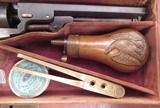 """FINE REVERSED CASED ANTIQUE COLT 1849 POCKET MODEL from COLLECTING TEXAS – HIGH CONDITION 6"""" BARREL 1849 POCKET MODEL IN REVERSED CASE w/ ACCESSORIES - 20 of 24"""