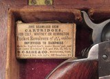 """FINE REVERSED CASED ANTIQUE COLT 1849 POCKET MODEL from COLLECTING TEXAS – HIGH CONDITION 6"""" BARREL 1849 POCKET MODEL IN REVERSED CASE w/ ACCESSORIES - 22 of 24"""