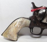 """COLORFUL COLT SAA 44-40 ETCH PANEL NICKEL REVOLVER from COLLECTING TEXAS – CARVED PEARL GRIPS – 7 1/2"""" BARREL - 2 of 18"""
