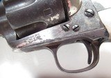 """COLORFUL COLT SAA 44-40 ETCH PANEL NICKEL REVOLVER from COLLECTING TEXAS – CARVED PEARL GRIPS – 7 1/2"""" BARREL - 7 of 18"""