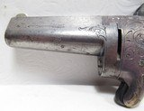 FINE NATIONAL ARMS CO. DERINGER No.1 MADE by MOORE from COLLECTING TEXAS – 41 RF CALIBER – SILVER PLATED BRASS FRAME - 6 of 13