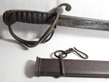 ORIGINAL N.P. AMES MODEL 1833 DRAGOON SABRE with ORIGINAL SCABBARD from COLLECTING TEXAS - 2 of 11