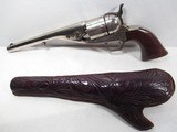 FINE COLT 1861 NAVY CONVERSION from COLLECTING TEXAS – ORIGINAL TOOLED SLIM-JIM HOLSTER