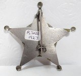 EXTREMELY RARE 5-POINT BALL STAR DETECTIVE BADGE from COLLECTING TEXAS – S.A.P.D BADGE with ORIGINAL FINGER PRINT CARD and MUG SHOTS - 2 of 6