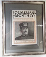 POLICEMAN'S MONTHLY MAGAZINE DATED JANUARY 1917 from COLLECTING TEXAS – PROFESSIONALLY FRAMED COVER with ORIGINAL MAGAZINE