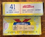 Western 41 Long Colt 200 Grain Lubaloy 1 full box of 50 and 1 partial box of 21