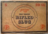 """Peters 20 Gauge Rifled Slug 2 1/2"""" - 5 count - Rare"""