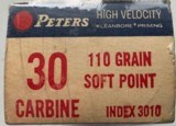 Peters High Velocity Center Fire Cartridges - 30 Carbine - 1 of 2