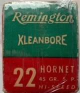 Remington Kleanbore .22 Hornet - Center Fire - 45 Grain Soft Point - 2 of 2