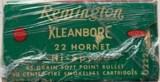 Remington Kleanbore .22 Hornet - Center Fire - 45 Grain Soft Point