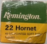 Remington 22 Hornet - Center Fire - 45 Grain Soft Point