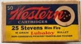 western 25 stevens rim fire lubaloy
