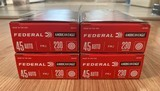 Federal 45ACP 230 Grain FMJ Brass 200 Rounds