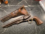Colt fluted 44. Cal. Army pistol with holster from Missouri families estate 2 Chambers Still loaded