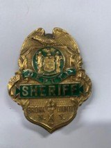 Rare WWI Vintage 1918 Dated Bronx County NY Sheriff Badge Named