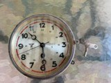Rare German WWII Kriegsmarine Bulkhead Clock Eagle M & 2860 N Marked