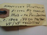 Kentucky Flintlock Pistol by Charles Bird & Co. Philedelphia, PA - 12 of 12