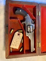 Smith & Wesson model 1 1/2 SA revolver in case near new! - 1 of 10