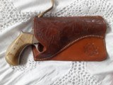 Colt Lightning 38 LC with Vintage Horn Grips and Pocket Holster