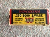Winchester 250-3000 Savage