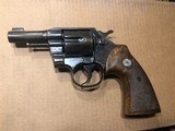 """Colt Army Special 38 cal. 3"""" barrel , blue , wood grips"""