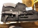 """arsenal sam 7k pistol ,7.62x39 , milled receiver , folding brace , quad rail , lightand """"see all open tritium sight"""" and soft case ,as new"""