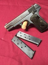 COLT HAMMERLESS .380 PISTOL W/ 2 FACTORY MAGS. - 4 of 7
