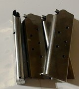 Check-Mate (CMI) 1911 7 Round .45 ACP Classic Stainless Steel Magazines