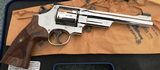 SMITH AND WESSON MODEL 25 BRIGHT NICKEL .45 COLT 6 1/2 Barrel with PRESENTATION WALNUT GRIPS - 2 of 3