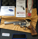 SMITH AND WESSON MODEL 25 BRIGHT NICKEL .45 COLT 6 1/2 Barrel with PRESENTATION WALNUT GRIPS - 3 of 3