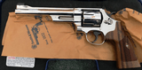SMITH AND WESSON MODEL 25 BRIGHT NICKEL .45 COLT 6 1/2 Barrel with PRESENTATION WALNUT GRIPS
