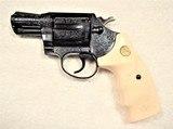 "1976 Colt Detective Special 38 Special 2"" Barrel, Engraved by Master Engraver Denise Thirion, Blue. - 1 of 15"