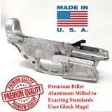 Premium AR-9 Billet 9mm Lower 80% Glock Pattern - Raw - 1 of 4