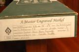 Merkel 303 EL Sidelock O/U 16 Gauge - Karola Knoth Engraved, Hand Detachable Locks & Exhibition Wood - 10 of 10