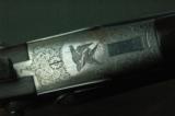 HDHHenrion, Dassy & Heuschen Hammer Pigeon Gun with Extensive Game Scene Engraving - 2 of 10