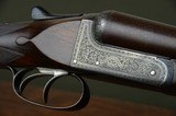 """Charles Boswell 12 Bore Boxlock Ejector Pigeon Gun – Finest Engraving and Highly Figured 30"""" Nitro Damascus Barrels With 2-3/4"""" Chambers"""