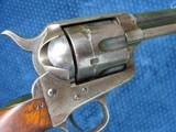"""Very Nice Antique Colt Artillery Revolver. 5 1/2"""" Barrel..45 Caliber. Lots of Finish. Excellent Mechanics. Very Early Barrel With Exposed S/N... - 10 of 15"""