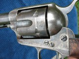 """Very Nice Antique Colt Artillery Revolver. 5 1/2"""" Barrel..45 Caliber. Lots of Finish. Excellent Mechanics. Very Early Barrel With Exposed S/N... - 9 of 15"""