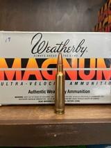 WEATHERBY .224 MAGNUM 55 GRAIN PT-EX ULTRA VELOCITY AMMUNITION