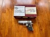 Colt 1911 Series 80 Stainless Officer's Model - 3 of 10